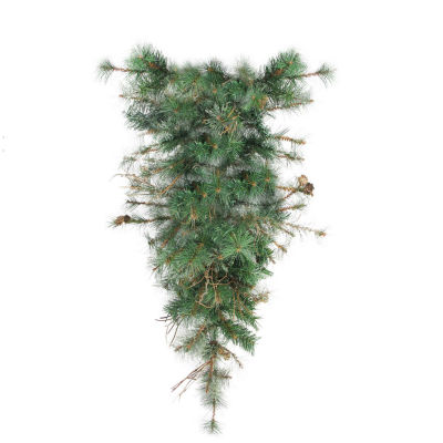 "36"" Country Mixed Pine Artificial Christmas Teardrop Swag - Unlit"""