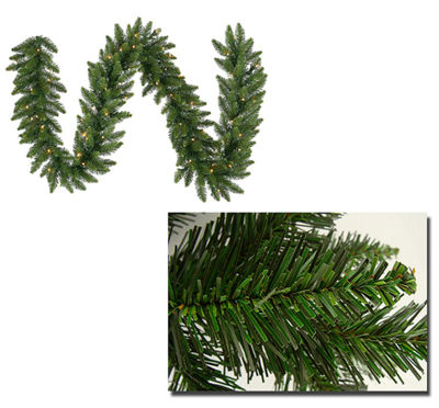 "50' x 12"" Pre-Lit Buffalo Fir Commercial ArtficialChristmas Garland -  Warm White LED Lights"""