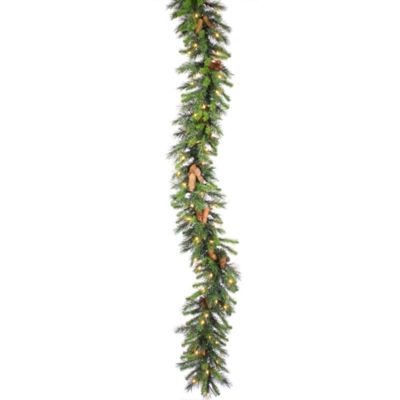 "50' x 16"" Commercial Pre-Lit Cheyenne Pine Christmas Garland - Clear Dura Lights"""