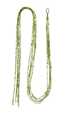 6' Bright Green Sparkling Sequin  Glitter and BeadChristmas Garland