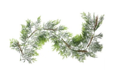 6' Two-Tone Cedar and Natural Twigs Artificial Christmas Garland - Unlit