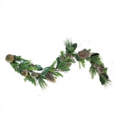 "6' x 7"" Monalisa Mixed Pine with Large Pine Conesand Foliage Christmas Garland - Unlit """