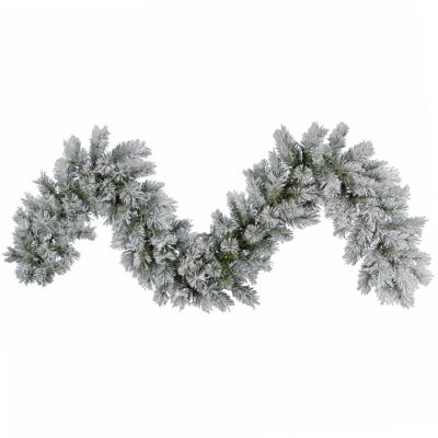 """9' x 14"""" Frosted Pine Artificial Christmas Garland- Unlit"""""""