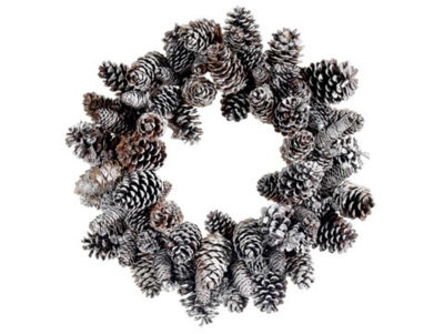 "24"" Iced Pine Cone Artificial Christmas Wreath - Unlit"""