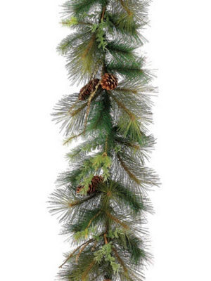 """6' x 12"""" Mixed Pine with Pine Cones Artificial Christmas Garland - Unlit"""""""