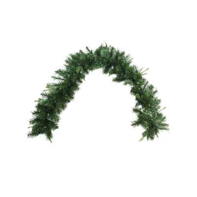 "6' x 14"" B/O Pre-Lit Cashmere Mixed Pine Artificial Christmas Garland - Warm White LED Lights"""