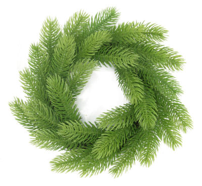 """10"""" Light Green Molded Tip Artificial Christmas Wreath on Twig Base - Unlit"""""""