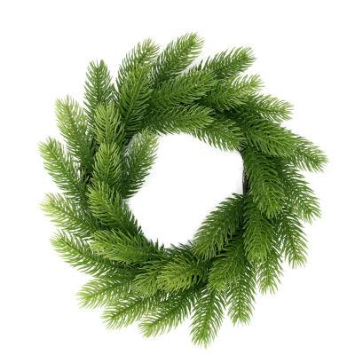 "12"" Two-Tone Mini Frasier Fir Artificial ChristmasWreath - Unlit"""