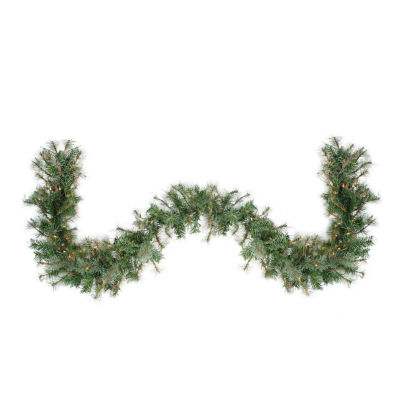 "6' x 9"" Pre-Lit Country Mixed Pine Artificial Christmas Garland - Clear Lights"""