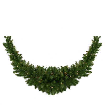 "60"" Pre-Lit Eastern Pine Artificial Christmas Swag- Clear Lights"""