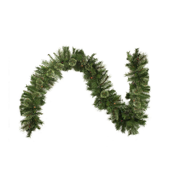 "9' x 10"" Pre-Lit Atlanta Mixed Cashmere Pine Artificial Christmas Garland - Multi-Color Lights"""