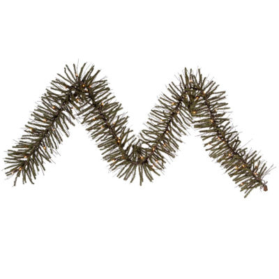 "9' x 10"" Pre-Lit Vienna Twig Artificial ChristmasGarland - Clear Lights"""