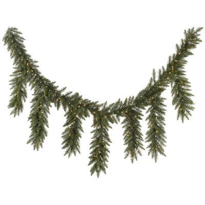 "9' x 12"" Pre-Lit Camdon Fir Artificial Icicle Christmas Garland - Clear Dura-Lit Lights"""