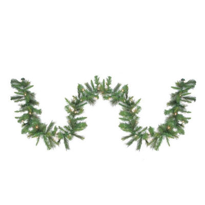 "9' x 12"" Pre-Lit Canyon Pine Artificial ChristmasGarland - Clear Lights"""