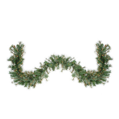 "9' x 12"" Pre-Lit Country Mixed Pine Artificial Christmas Garland - Clear Lights"""