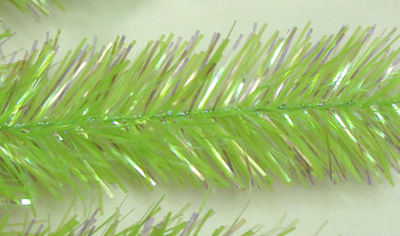 "9' x 12"" Pre-Lit Sparkling Chartreuse Green Christmas Garland - Green Lights"""