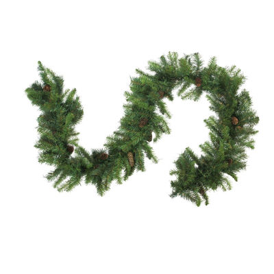 "9' x 14"" Dakota Red Pine Artificial Christmas Garland with Pine Cones - Unlit"""