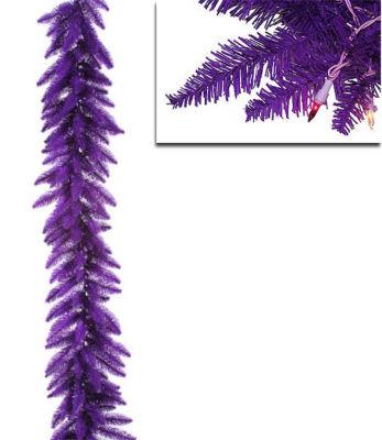 "9' x 14"" Pre-Lit Purple Ashley Spruce Christmas Garland - Clear & Purple Lights"""