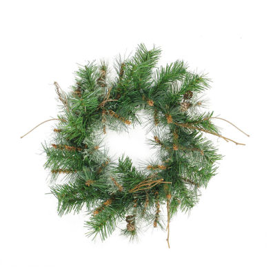 "24"" Country Mixed Pine Artificial Christmas Wreath- Unlit"""