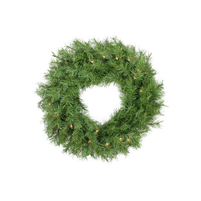 "24"" Pre-Lit Northern Frasier Fir Artificial Christmas Wreath - Clear Lights"""