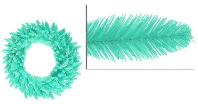 "24"" Pre-Lit Seafoam Green Ashley Spruce ChristmasWreath - Clear & Green Lights"""