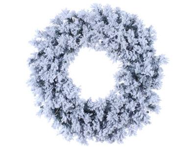 "30"" Flocked & Glittered Chestnut Jubilee Pine Artificial Christmas Wreath- Unlit"""