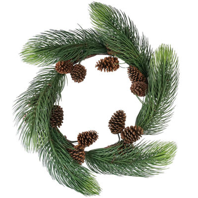 "30"" Long Pine Needle Artificial Christmas Wreath with Pine Cones - Unlit"""