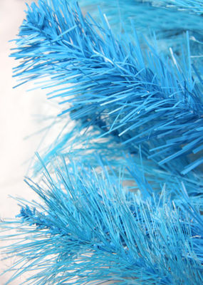 "30"" Pre-Lit Sky Blue Cashmere Artificial ChristmasWreath - Clear Lights"""