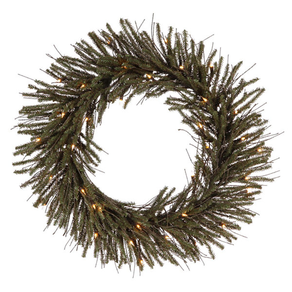 "30"" Pre-Lit Vienna Twig Artificial Christmas Wreath - Clear Lights"""