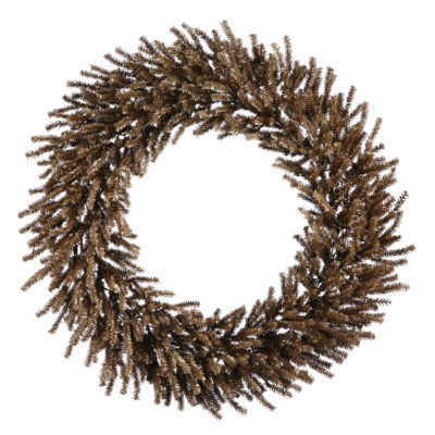 """30"""" Sparkling Chocolate Brown Artificial ChristmasWreath - Unlit"""""""