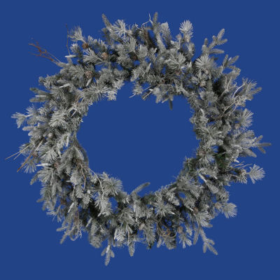 "36"" Frosted Wistler Fir Artificial Christmas Wreath - Unlit"""
