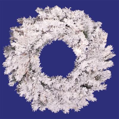 "36"" Heavily Flocked Alaskan Artificial Christmas Wreath - Unlit"""