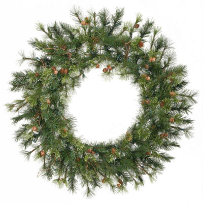 "36"" Mixed Country Pine Artificial Christmas Wreath- Unlit"