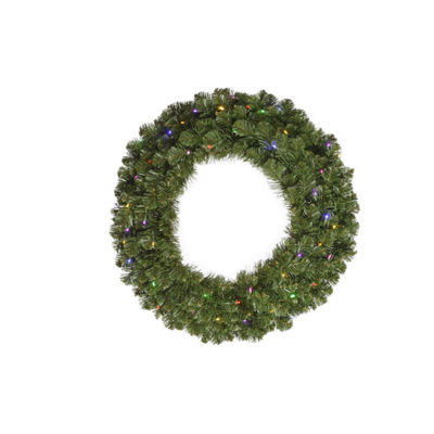 "36"" Pre-Lit Double-Sided Grand Teton Artificial Christmas Wreath - Multi LED"""