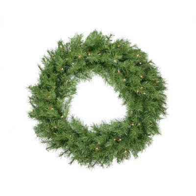 """36"""" Pre-Lit Northern Frasier Fir Artificial Christmas Wreath - Clear Lights"""""""