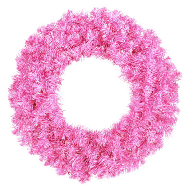 "36"" Sparkling Hot Pink Artificial Christmas Wreath- Unlit"""