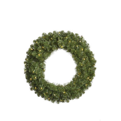 "48"" Pre-Lit Grand Teton Commercial Artificial Christmas Wreath Clear Dura Lights"""