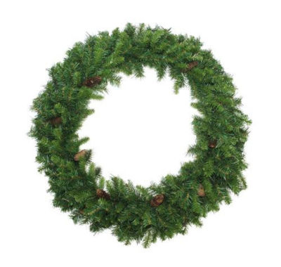 6' Dakota Red Pine Commercial Artificial ChristmasWreath with Pine Cones - Unlit