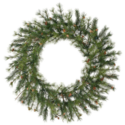 "60"" Mixed Country Pine Artificial Christmas Wreath- Unlit"""
