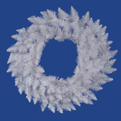 "60"" Sparkle White Spruce Artificial Christmas Wreath - Unlit"
