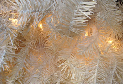 "72"" Huge Pre-Lit White Canadian Pine Artificial Christmas Wreath - Clear LIghts"