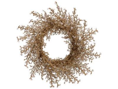 "28"" Elegant Gold Iced Twig Artificial Christmas Wreath - Unlit"""