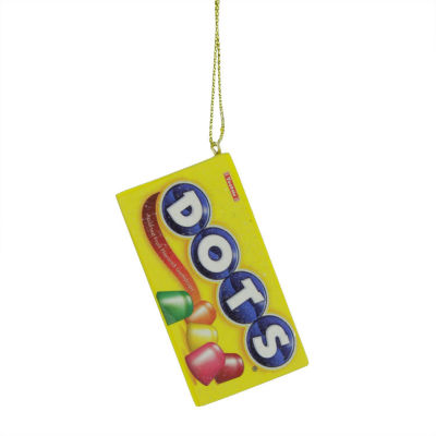 "2.75"" Candy Lane Tootsie Roll DOTS Original Gumdrop Candies Christmas Ornament"""
