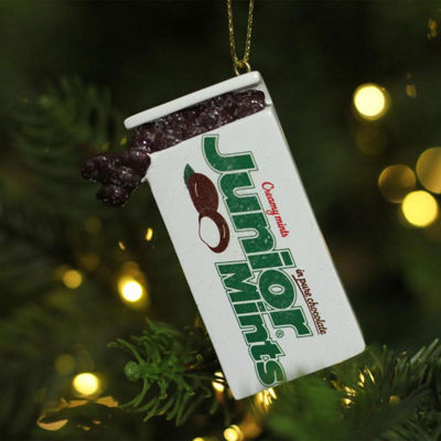 "2.75"" Junior Mints Chocolate Creamy Mints Candy Decorative Christmas Ornament"""