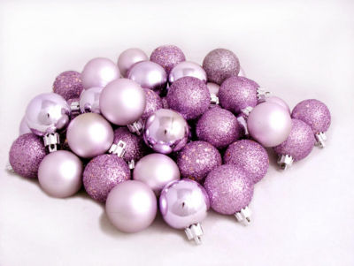 "24ct Light Lavender Purple Shatterproof 4-Finish Christmas Ball Ornaments 2.5"" (60mm)"""