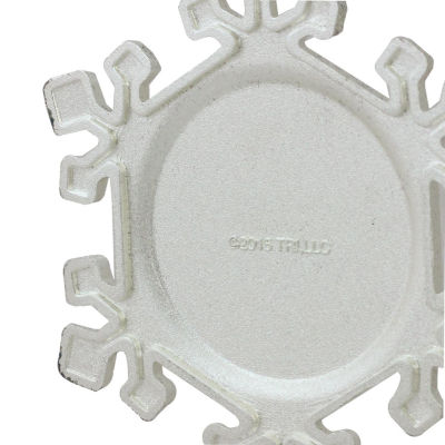 "3.5"" Silver Plated Snowflake Toostie Roll Man Candy Logo Christmas Ornament with European Crystals"