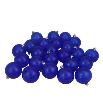 "32ct Blue Transparent Shatterproof Christmas BallOrnaments 3.25"" (80mm)"""
