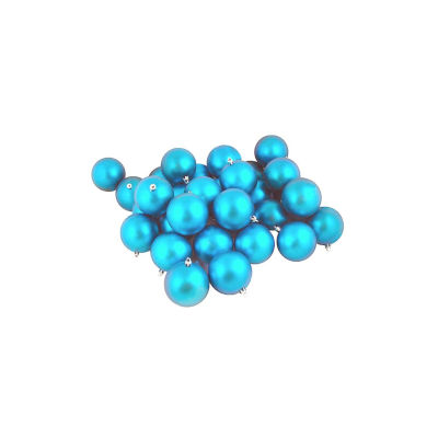 "32ct Matte Turquoise Blue Shatterproof Christmas Ball Ornaments 3.25"" (80mm)"""