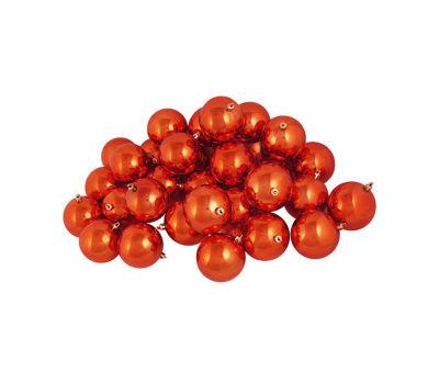 "32ct Shatterproof Shiny Burnt Orange Christmas Ball Ornaments 3.25"" (80mm)"