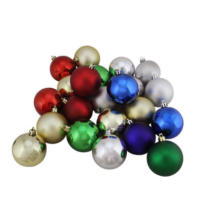 "32ct Shatterproof Traditional Multi-Color Shiny &Matte Christmas Ball Ornaments 3.25"" (80mm)"""